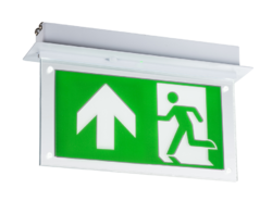 2 Watt Recessed LED Emergency Exit Sign