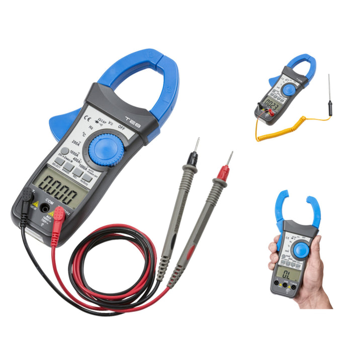 1000 AMP CAT III Digital clamp meter with dual display - Steel City Lighting