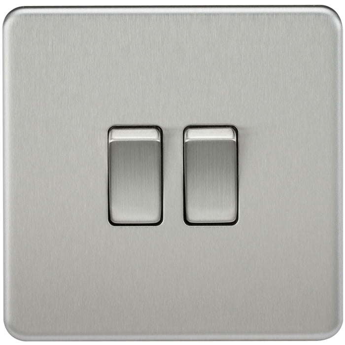 10A 2G Screwless 2 Way Switch - Steel City Lighting