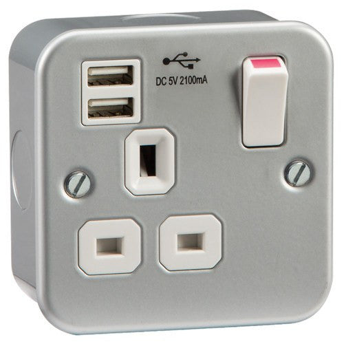 1G Switched Socket with Dual USB Charger (combined)