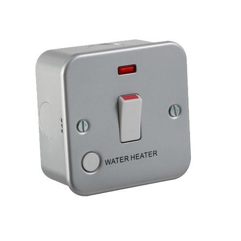 "20A 1G DP Switch with Neon and Flex Outlet - ""Water heater"""