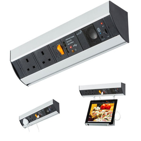 Under Cabinet Power Station - USB Charging and Bluetooth Audio System