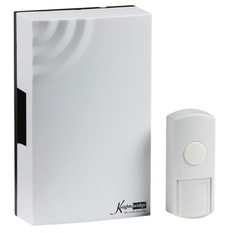 White Wireless (100m Range) Mechanical Door Chime