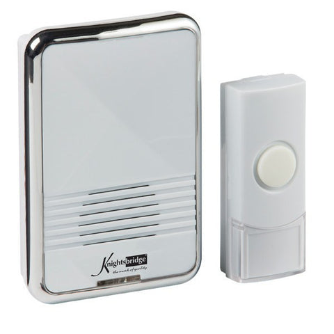 White Wireless (80m Range) Plug-In Door Chime