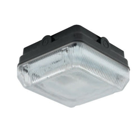Astro 16 Watt 2D IP65 Black Square Bulkhead