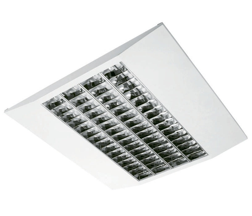 4 x 14 Watt T5 Slimline Surface Light c/w VDT (Cat 2) Louvre - Steel City Lighting