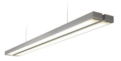 Borde 2 x 26 Watt Natural White (4000K) LED Twin Silver Pendant - Steel City Lighting