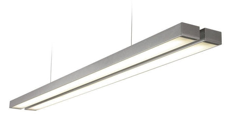Borde 2 x 26 Watt Natural White (4000K) LED Twin Silver Pendant