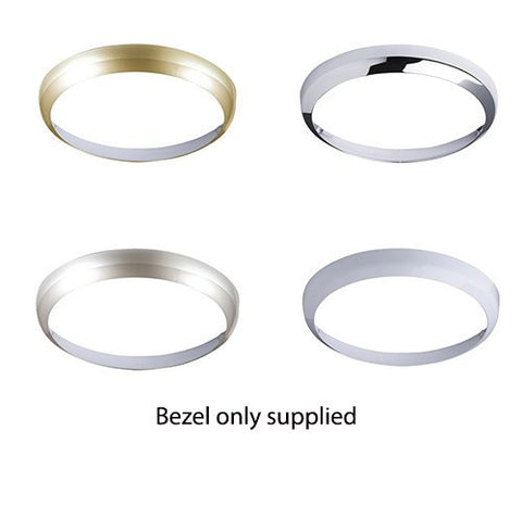 White, Brass, Chrome or Matt Silver colour Bezel for 400mm Fusion Bulkhead