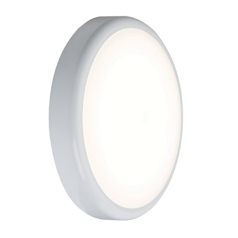 14 Watt 900lm LED Circular IP44 Bulkhead with Microwave Sensor