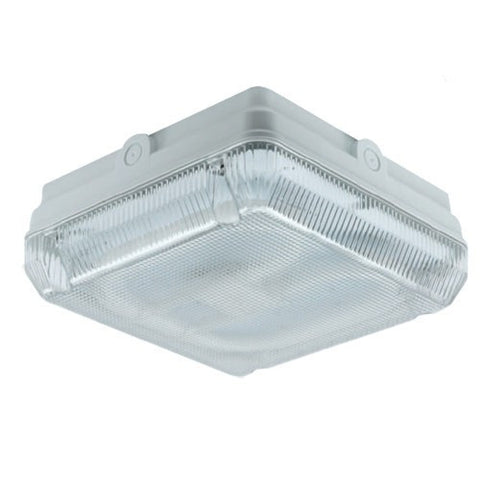 Astro 16 Watt 2D IP65 White Square Bulkhead