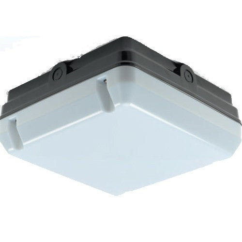 28 Watt 2D IP65 Black Square Bulkhead - Steel City Lighting