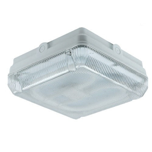 28 Watt 2D IP65 White Square Bulkhead - Steel City Lighting