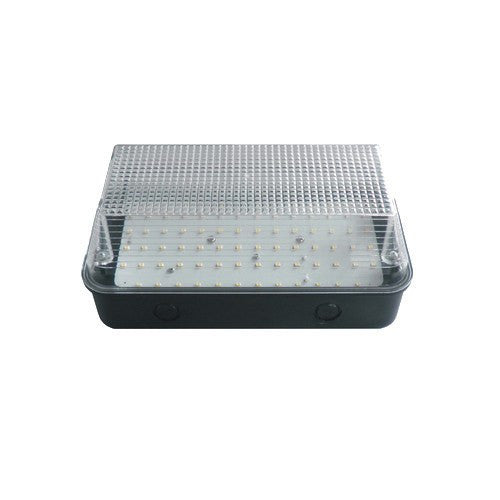 8 WATT LED Black Base Clear Diffuser - 6000K - Steel City Lighting