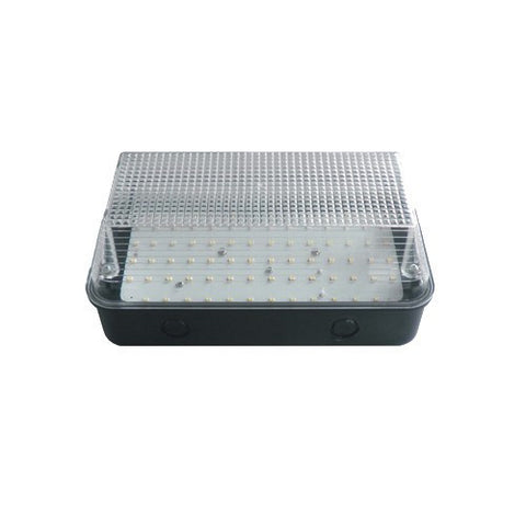 8 WATT LED Black Base Clear Diffuser - 6000K