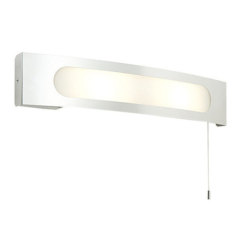Convesso 25 Watt Stainless Steel Wall Light with Shaver Socket