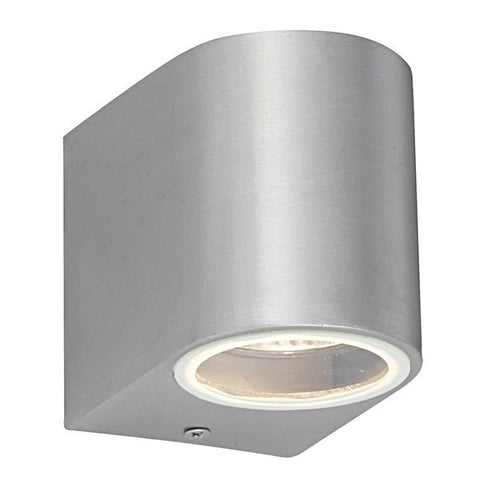 Doron 35 Watt GU10 IP44 Brushed Alloy Wall Light