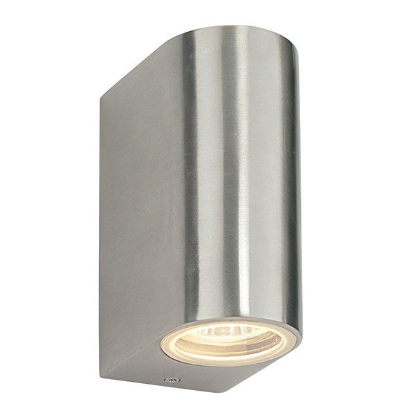 Doron 35 Watt GU10 IP44 Stainless Steel Up/Down Wall Light - Steel City Lighting