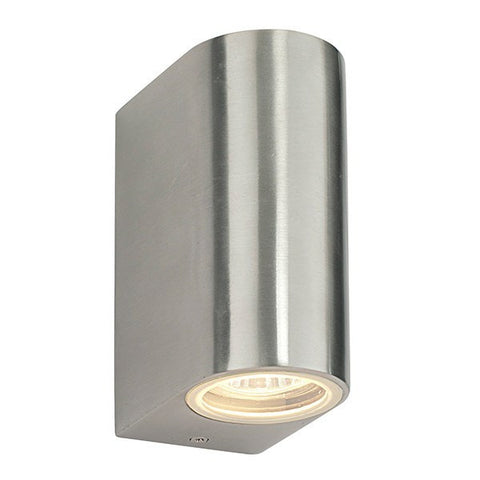 Doron 35 Watt GU10 IP44 Stainless Steel Up/Down Wall Light