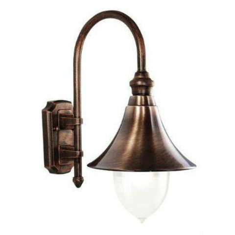 Lampara Black Copper Wall Lantern