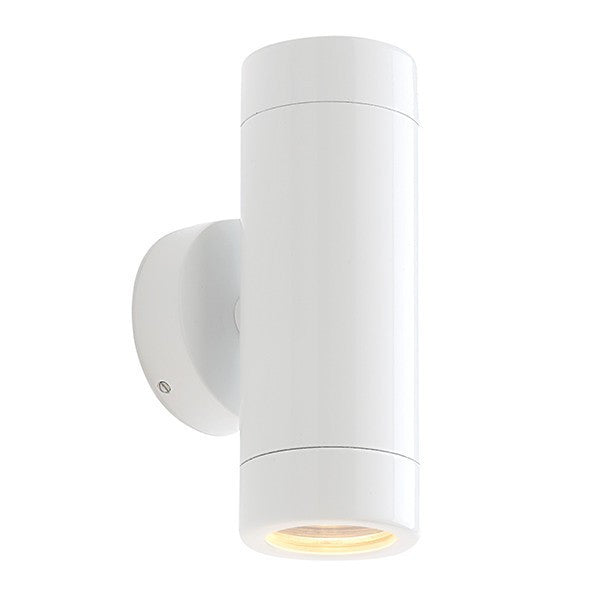 Odyssey 2 x 3.5 Watt GU10 IP44 Gloss White Up/Down Wall Light
