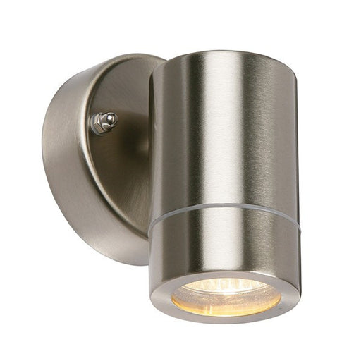 Palin 7 Watt LED GU10 IP44 Stainless Steel Wall Lantern - Steel City Lighting