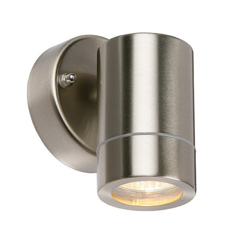 Palin 7 Watt LED GU10 IP44 Stainless Steel Wall Lantern