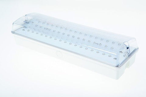 Brook LED Maintained IP65 Self Test Emergency Bulkhead
