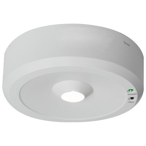 Falcon 5 Watt Open Area Lens LED Self Test Surface Emergency Downlight - Steel City Lighting