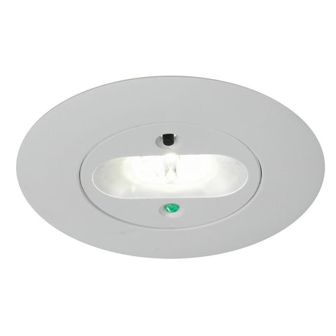 Merlin 5 Watt Escape Route Lens LED Self Test Recessed Emergency Downlight