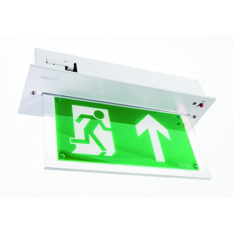 Vale LED Maintained Selt Test LED Recessed Exit Sign