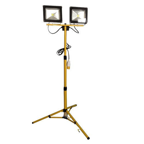 2 x 30 Watt 110-230 Volt LED Portable Floodlights C/W 1.8 Metre Tripod - Steel City Lighting