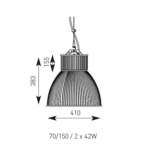 70 Watt Metal Halide Architechural High Bay - Steel City Lighting