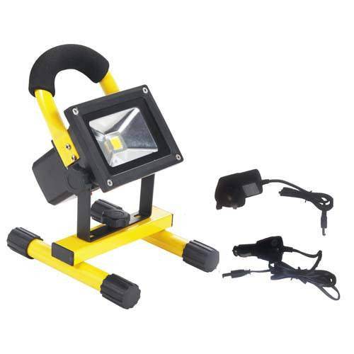10 Watt 700lm Rechargeable LED Floodlight on Stand - Steel City Lighting