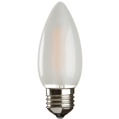 2 Watt 35mm 3000K LED Candle Lamp - Edison Screw Cap (E27), Frosted Finish