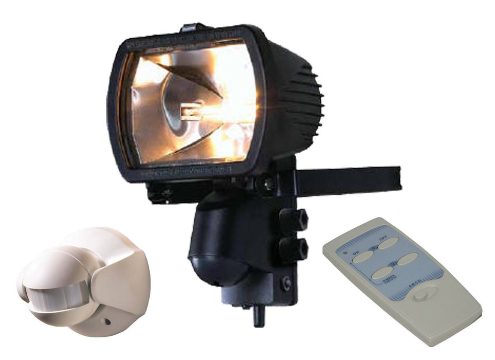 300 Watt Receiver floodlight with Wireless PIR and Remote Control - Steel City Lighting
