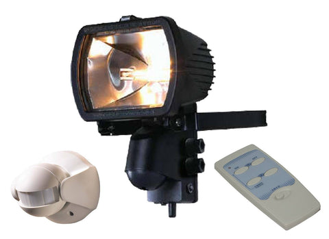 300 Watt Receiver floodlight with Wireless PIR and Remote Control
