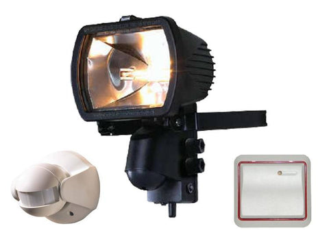 300 Watt Receiver floodlight with Wireless PIR and Wireless Wall Switch