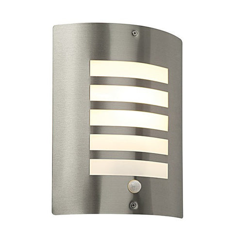 Bianco Stainless Steel IP44 PIR Wall Lantern