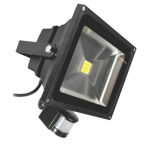 ECO 30 Watt IP65 Warm White (3100K) LED PIR Floodlight - Steel City Lighting