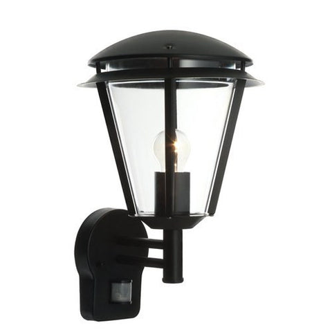 Inova IP44 Black PIR Wall Lantern