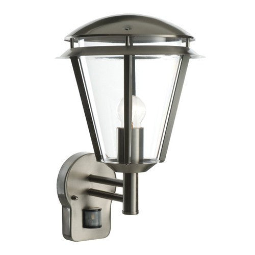 Inova IP44 Stainless Steel PIR Wall Lantern - Steel City Lighting