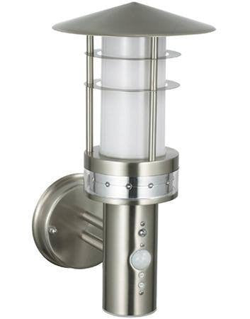 Pagoda Stainless Steel IP44 PIR Wall Lantern