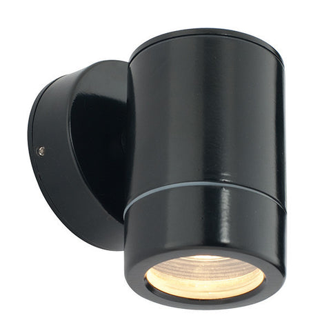 Odyssey 35 Watt GU10 IP44 Satin Black Wall Light