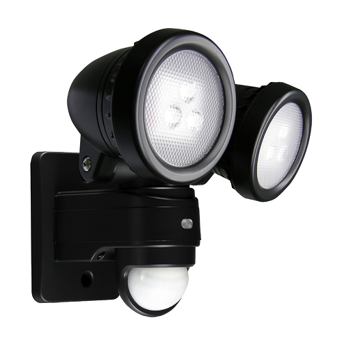 15 Watt 800lm LED PIR IP44 Twin Spot Security Light