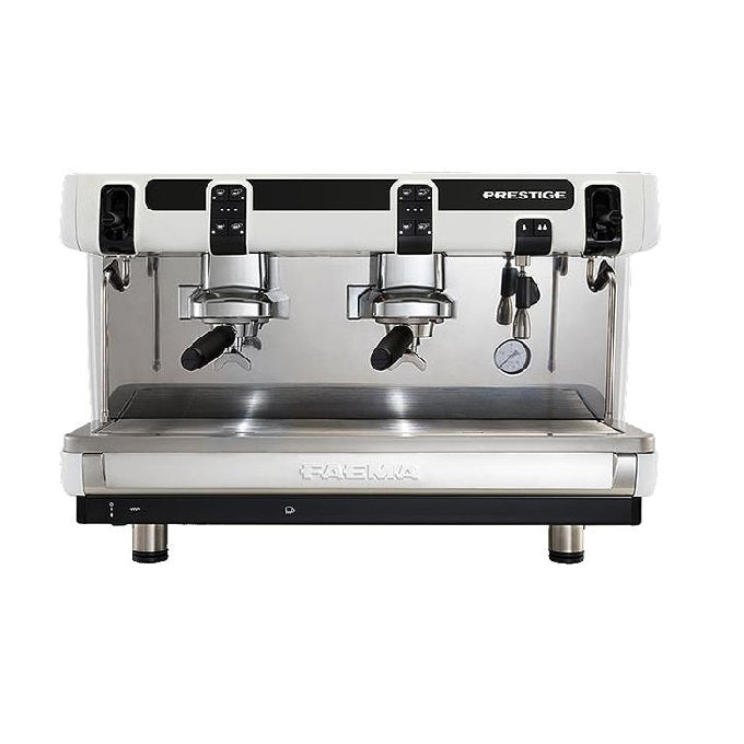Faema prestige 2 group coffee machines (front view)