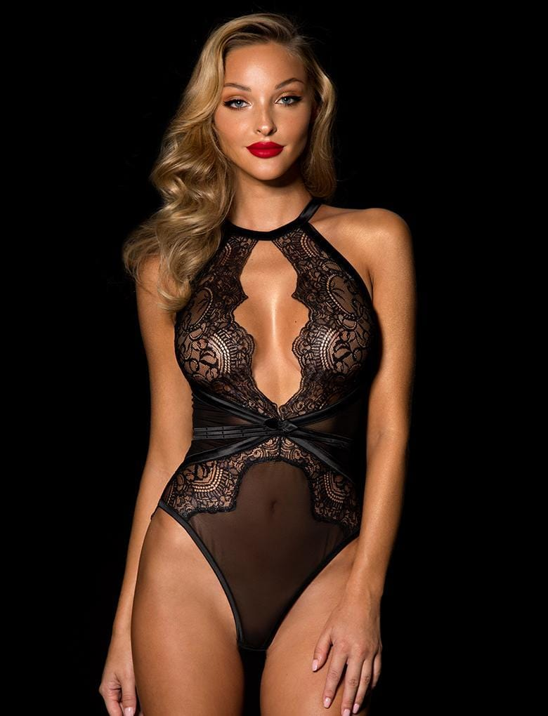 Luna Black Bodysuit - Shop Lingerie | Honey Birdette