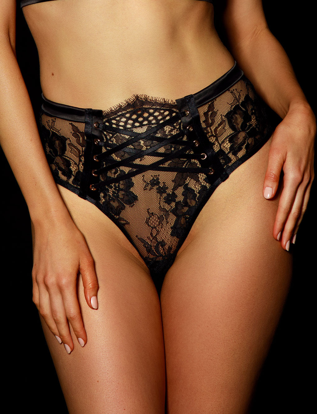Alexandra Black Lace Lingerie Set | Shop Lingerie | Honey Birdette