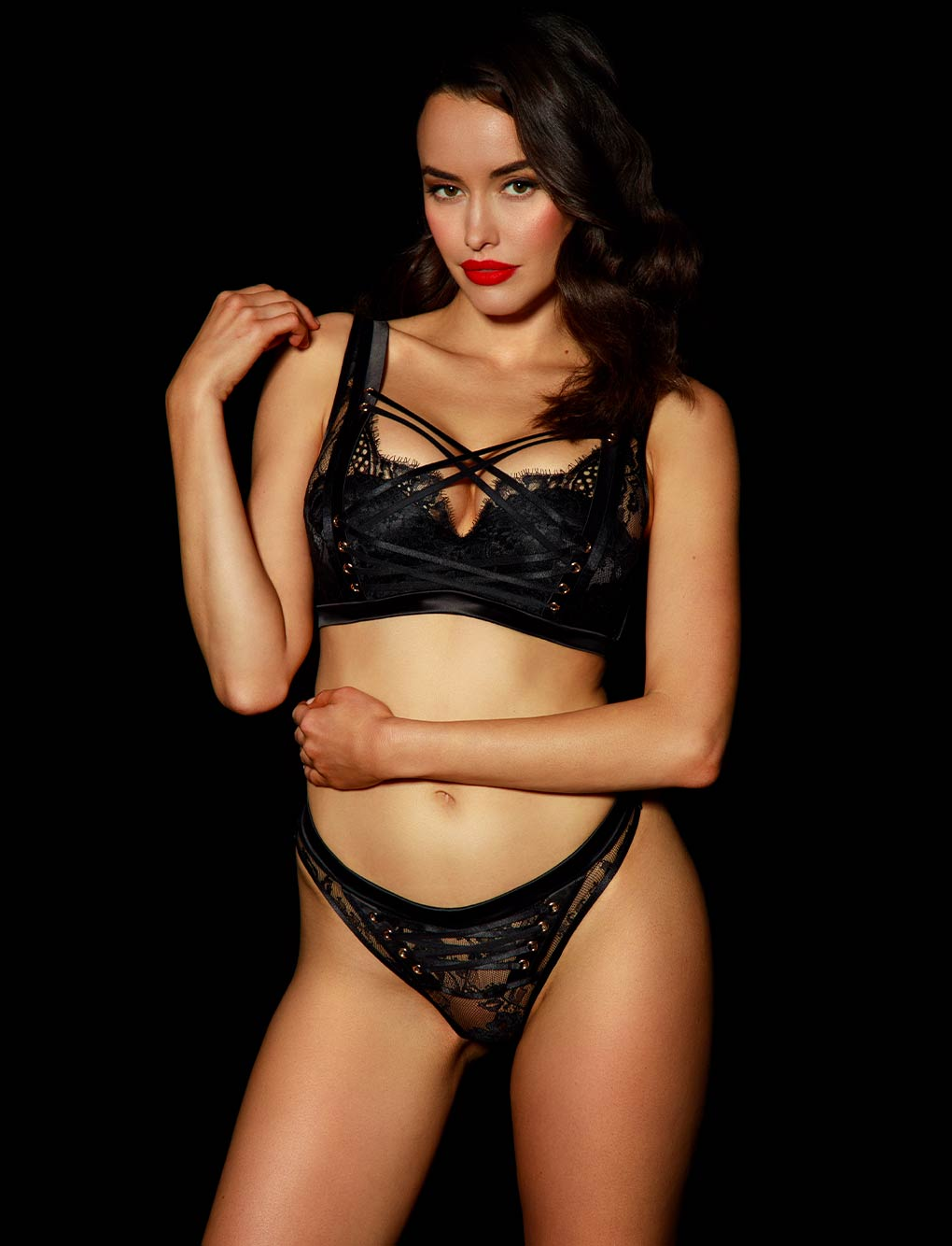 Alexandra Black Lace Thong | Shop Thongs & G Strings | Honey Birdette