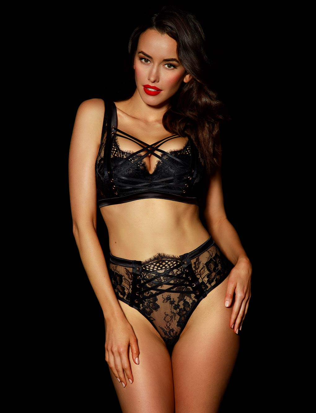 Alexandra Black Lace Push Up Bra | Shop Bras | Honey Birdette